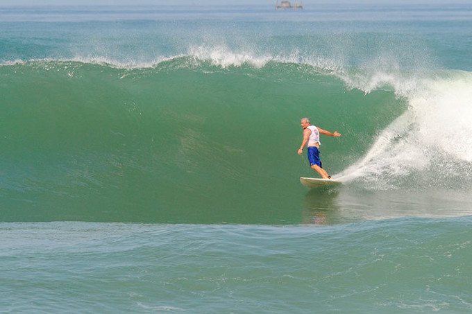 me surfing (Dan Howard) on my 50th birthday in West Java