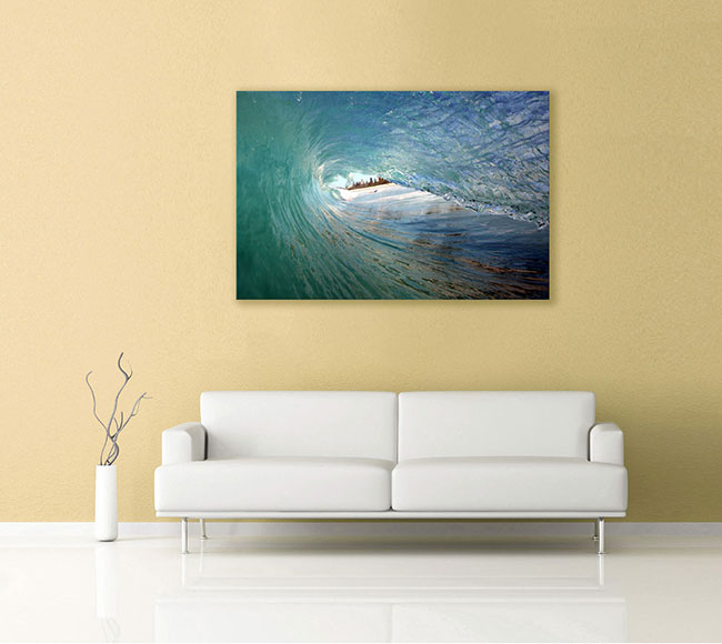 Ocean Artwork canvas on the wall