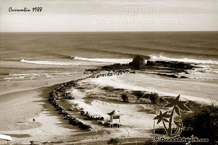This is a classic old lineup shot of Currumbin Alley I took in 1988