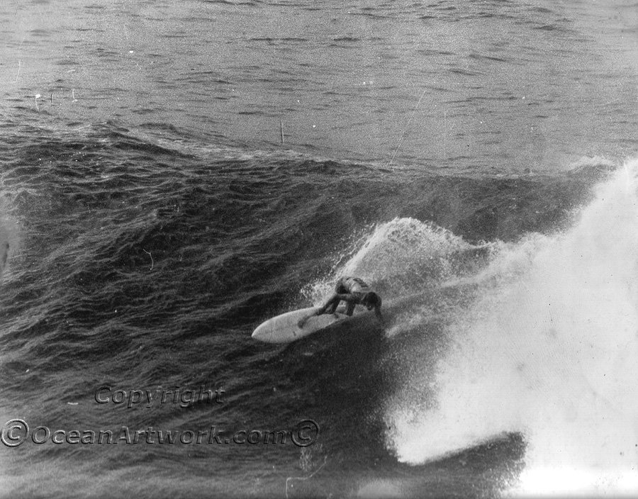 Wayne Lynch surfing at Cronulla Point during the Surfaabout