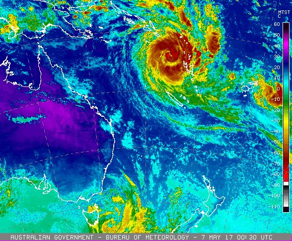 Tropical cyclone Donna May 2017